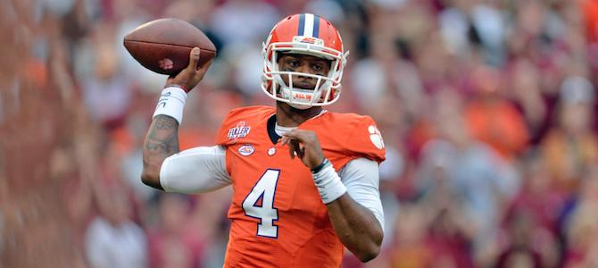 Clemson quarterback Deshaun Watson was a 4-star recruiting coming out of high school. (AP Photo)