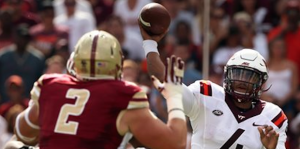 Jerod Evans is tied for the ACC lead with 13 touchdown passes. (AP Photo).