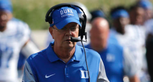 David Cutcliffe and Duke will be without linebacker Tinashe Bere for the rest of the season. (AP Photo)