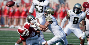 Defensive back Jessie Bates (center) has been a pleasant surprise for Wake Forest this season. (AP Photo)