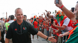 Mark Richt has Miami off to a 3-0 start to this season. (AP Photo)