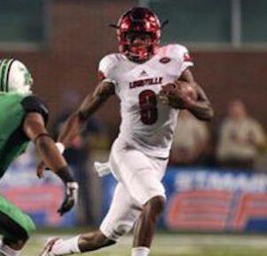 Lamar Jackson has scored 25 touchdowns through the first four games of the season. (AP Photo).