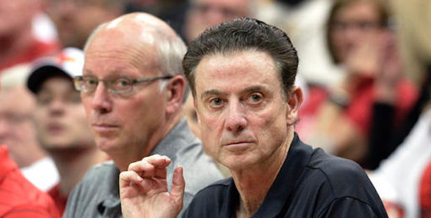 The NCAA alleges that Louisville head coach Rick Pitino is guilty of failure to monitor former staffer Andre McGee. (AP Photo)