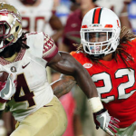 Dalvin Cook (4) leads the ACC in rushing yards with 900 through the first seven weeks of the season. (AP Photo)