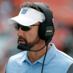 UNC head coach Larry Fedora has lost two starting offensive linemen since July. (AP Photo)
