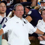 Brian Kelly's Notre Dame team is falling apart this season. (AP Photo)