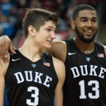 Grayson Allen (3) and Matt Jones (13) will provide leadership for Duke this season. (AP Photo)