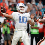 Mitch Trubisky is leading the ACC in completion percentage this season. (AP Photo)