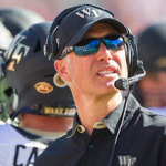 Dave Clawson has Wake Forest one victory away from doubling last season's win total. (AP Photo)