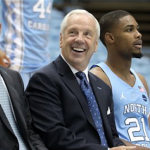 Roy Williams (center) guided UNC to a 33-7 finish last season. (AP Photo)