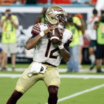 Deondre Francois has started all seven games at quarterback for Florida State this season. (AP Photo)