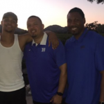 Gary Trent Jr. (second from the left) signed with Duke earlier this month. (Source: Twitter account @THAT_KID_GARY)