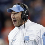 Larry Fedora screams