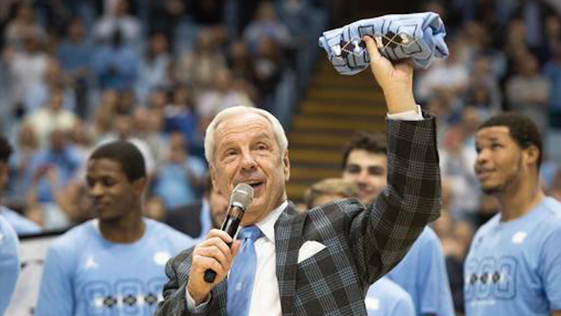 Roy Williams celebrates