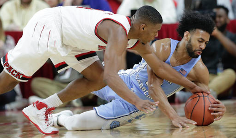 Dennis Smith and Joel Berry fight