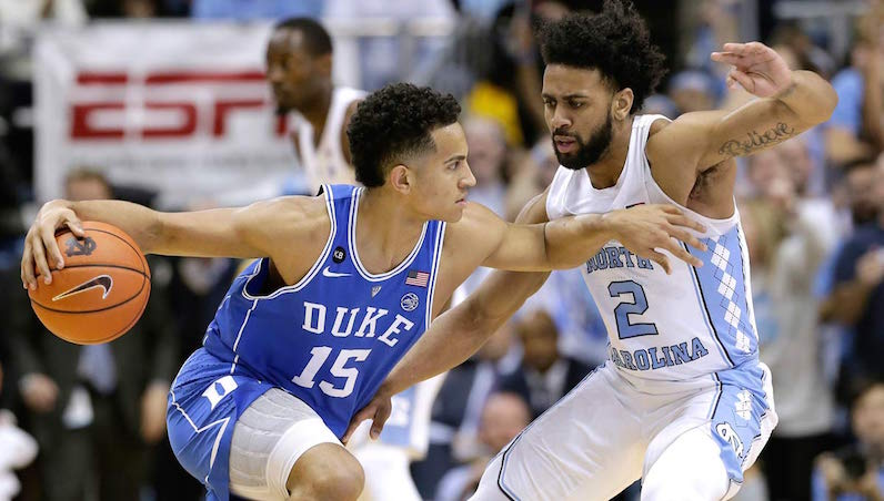 Frank Jackson Drives on Joel Berry