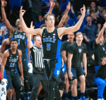 Luke Kennard celebrates