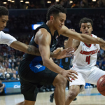 Frank Jackson fights for ball