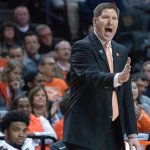 Brad Brownell yells