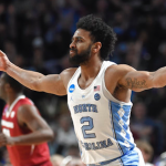 Joel Berry hits a three