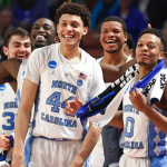UNC players smiling