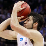 Luke Maye readies the game-winning shot against Kentucky.