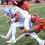 Mitchell Trubisky runs for a first down
