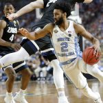 Joel Berry drives to the hoop