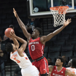 Abdul-Malik Abu blocks shot
