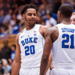 Marques Bolden of Duke basketball smiles