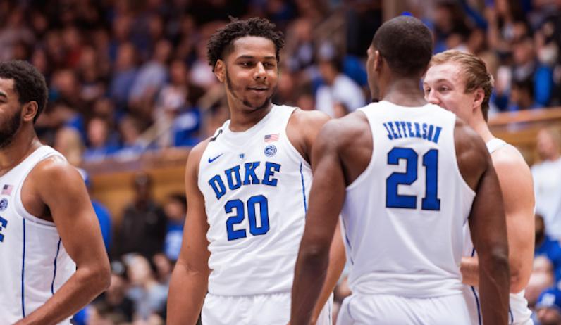 Marques Bolden of Duke basketball smiles