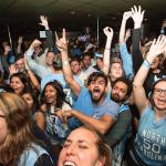 North Carolina fans celebrate