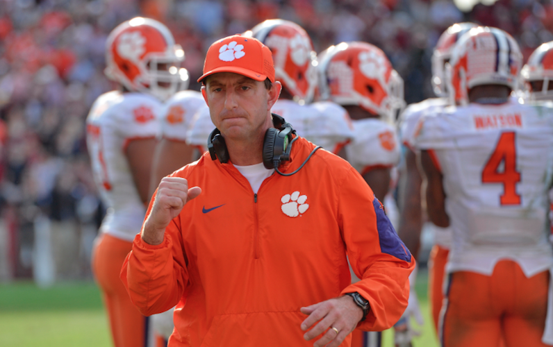 Dabo Swinney pumps fist