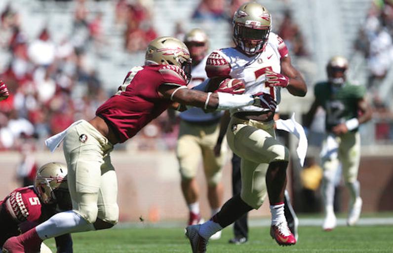 Cam Akers breaks tackle