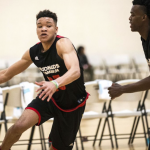 Kevin Knox drives the ball