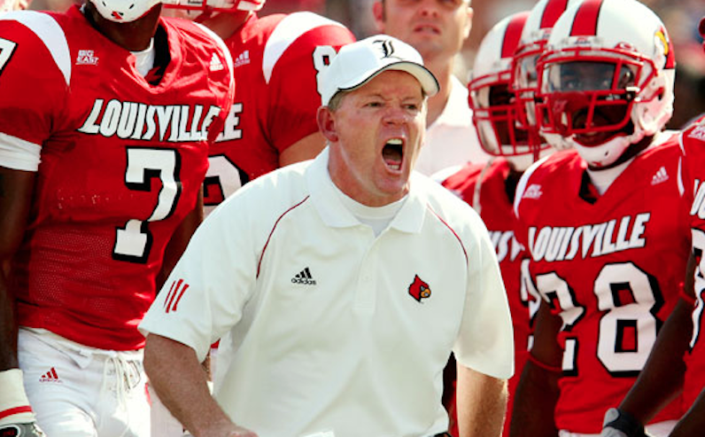Bobby Petrino screams