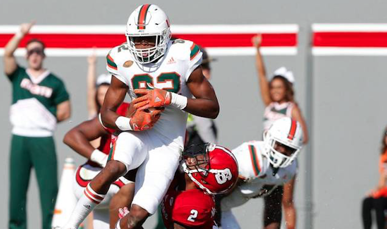 Miami scored early, and its defense didn't allow a touchdown against Duke
