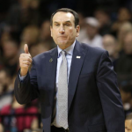 Mike Krzyzewski gives thumbs-up