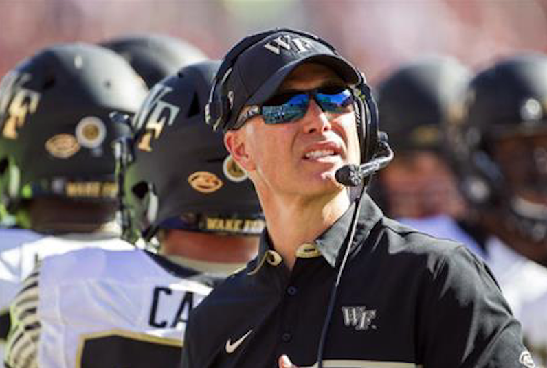 Dave Clawson looks up