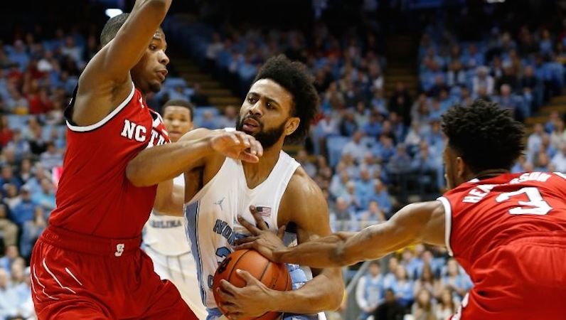 Joel Berry drives the ball