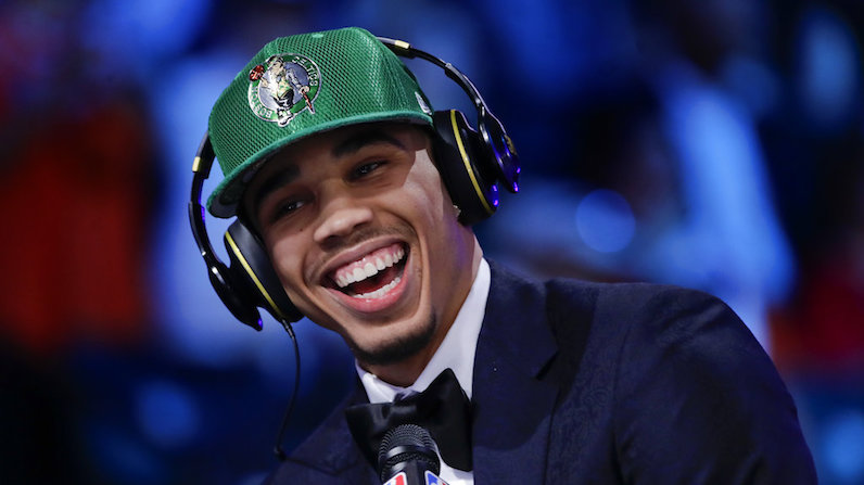 Jayson Tatum at the NBA Draft