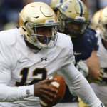 Brandon Wimbush scrambles