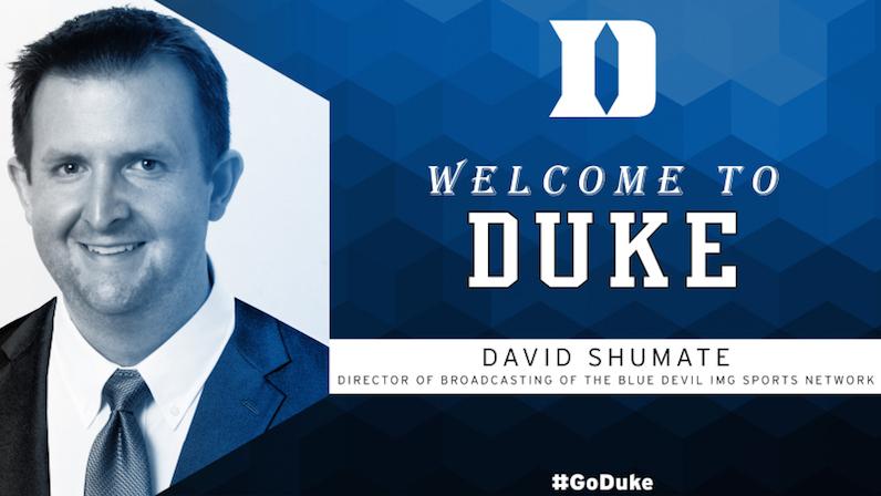 David Shumate joins Duke