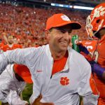 Dabo Swinney celebrates