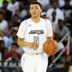 Jahvon Quinerly dribbles