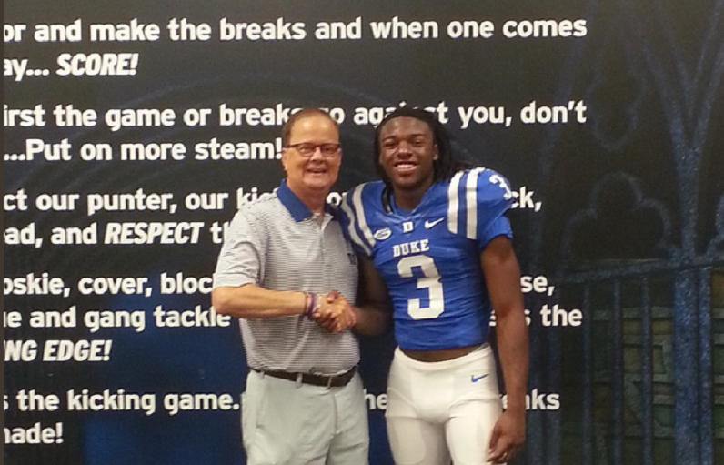 Mataeo Durant with David Cutcliffe