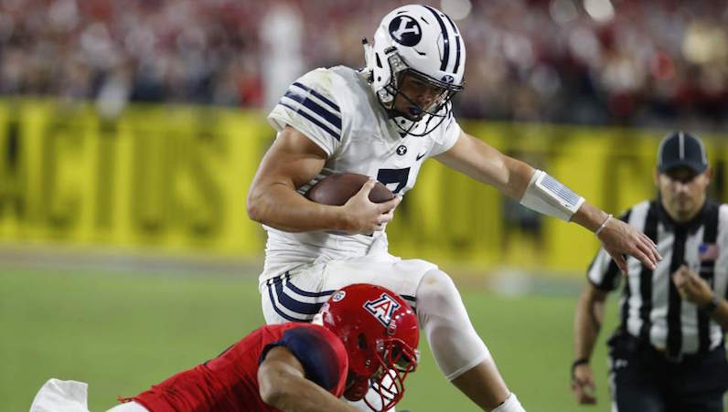 Taysom Hill leaps