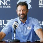 Larry Fedora smiles