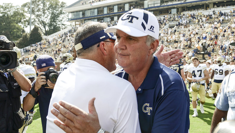 Paul Johnson hugs
