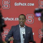 Kevin Keatts at podium